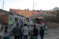 Villa Puclaro cuenta con mural de ingreso que rescata la historia y el origen de la localidad
